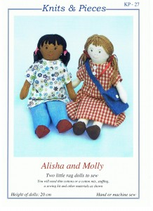 Alisha and Molly rag dolls
