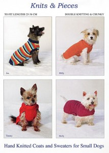 Small dog coat pattern front